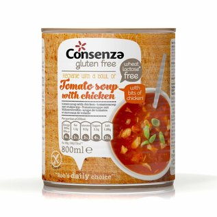 Consenza Tomat suppe med kylling, 800 ml
