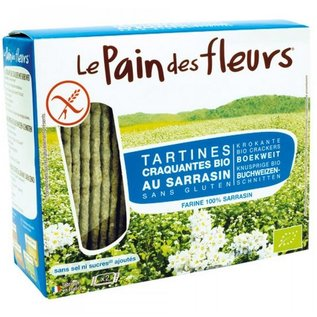 Le pain des fleurs Organic Buckwheat crackers, WITHOUT SALT and without sugar