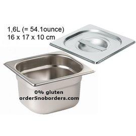 Bakvorm RVS Baking Stainless Steel with lid 1.6 liter