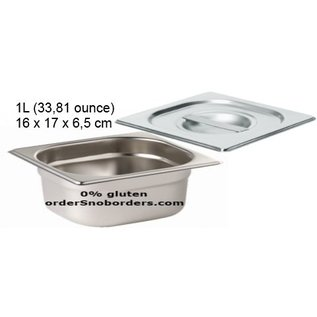 Bakvorm RVS Baking tin, 1 liter, with handle - Stainless Steel