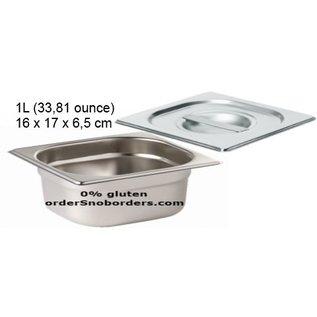 Bakvorm RVS Moule de cuisson, 1 litre, avec poignée - Acier inoxydable