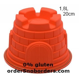 Non food Silicone baking pan Castle 1.8 liters