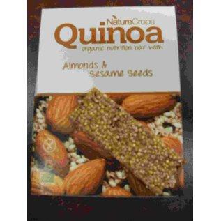 Nature Crops Quinoa bar -Biologisch - Mandel Sesam 40 Gramm