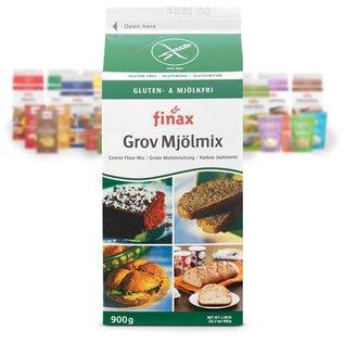 Finax Broodmix bruin - groene verpakking, 900 gram