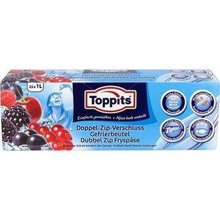 Toppits Toppits Ziploc Zipper 1ltr 25st