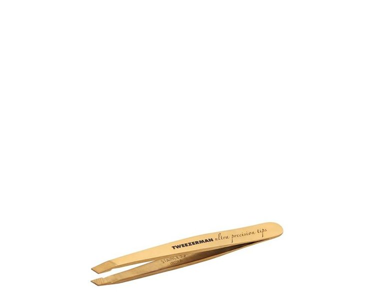 Tweezerman Mini Ultra Precision Slant Tweezer Gold