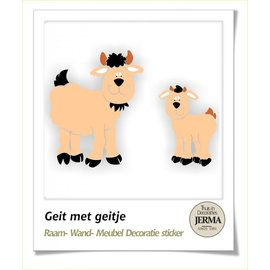 JERMA decoraties Boerderij muurstickers Geitje met jong.