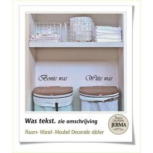 JERMA decoraties Laundry tekst: kies Bonte was en Witte was of Hand was en Wol was