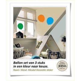 JERMA decoraties Ballon,set van 3 decoraties.