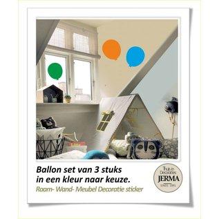 JERMA decoraties Ballon set van 3 stuks decoratie sticker voor op je ramen wanden of meubels.
