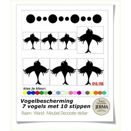 JERMA decoraties Vogelbescherming raamstickers 7 vogels