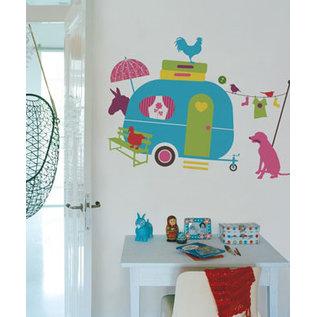 Kinderkamer decoratie stickers muurstickers meubeldecoratie thema Op Vakantie