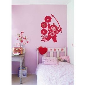 kinderkamer decoratie stickers Lucky Girl