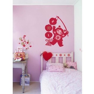 DecoKids.nl kinderkamer decoratie stickers Het thema Lucky Girl