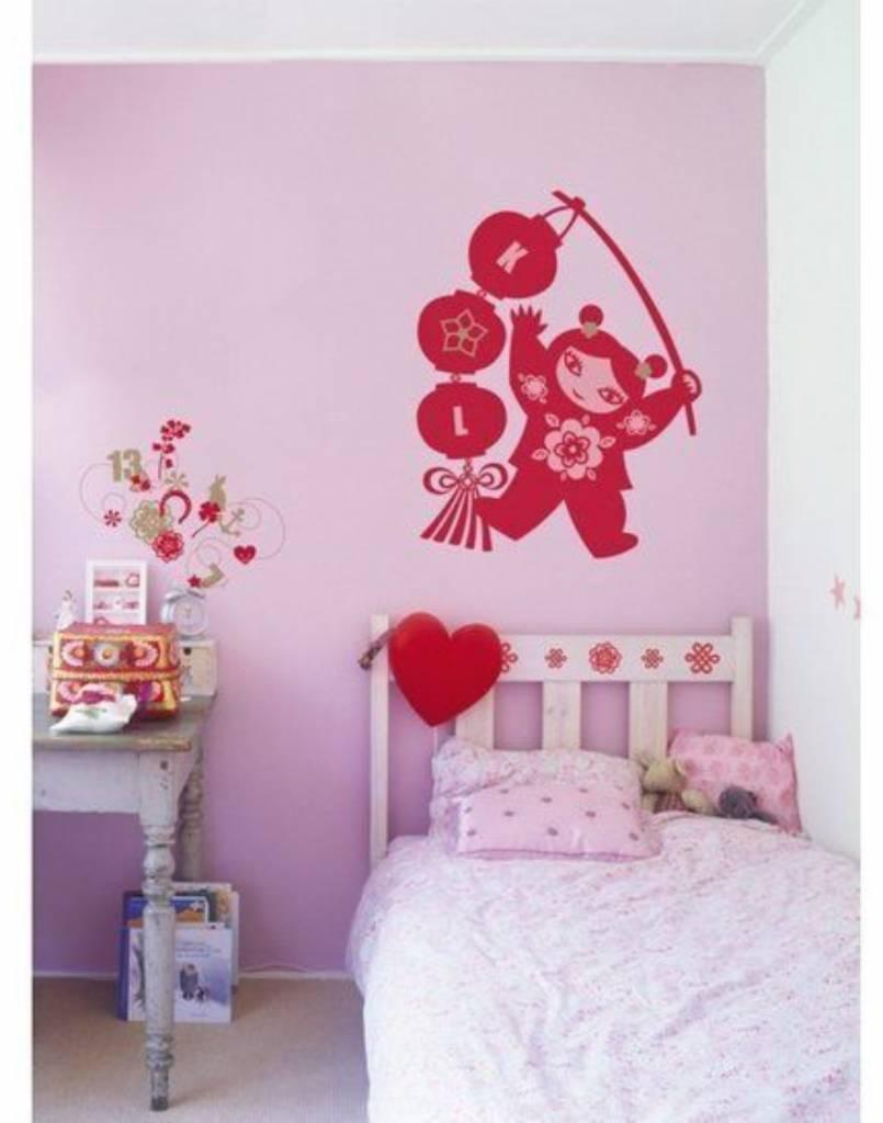 Meisjes decoraties stickers met o.a. ballet, bloemen, mode ...