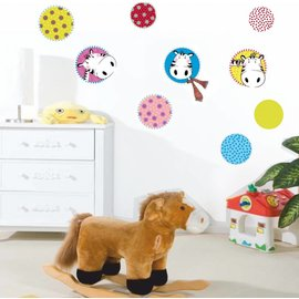 Kinderkamerdecoratie stickers model Zebra muurstickers.