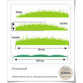 JERMA decoraties Decoratie sticker gras Grasstrook per onderdeel te bestellen.