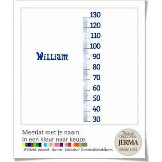 JERMA decoraties Groeimeter, Meetlat. met naam kleur naar keuze