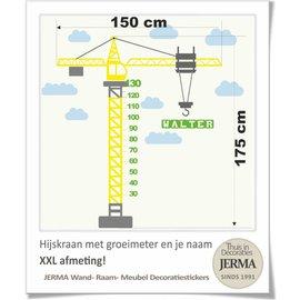 JERMA decoraties Groeimeter Hijskraan XXL