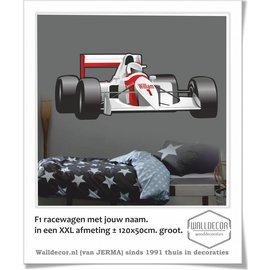 Walldecor F1 Racewagen XXL afmeting