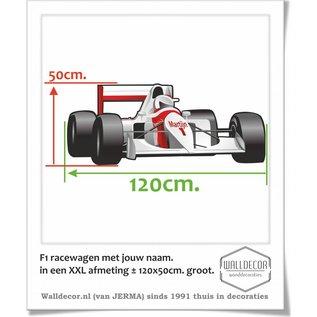 Walldecor F1 Racewagen XXL afmeting