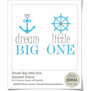JERMA decoraties Dream big little one muursticker Kinderkamer tekst.