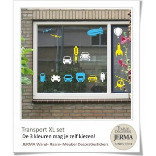 JERMA decoraties Auto muurstickers kinderkamer Transport thema