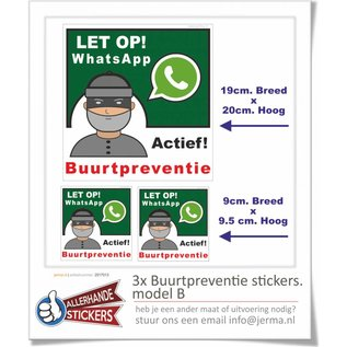 Allerhandestickers.nl WhatsApp Buurtpreventie sticker set model B