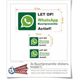 Allerhandestickers.nl Buurpreventie stickers Model C