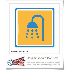 Allerhandestickers.nl Douche symbool sticker