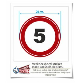 Allerhandestickers.nl Sticker max. snelheid