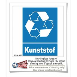 Allerhandestickers.nl Plastic recycling sticker