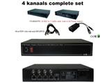 4 kanaals Video balun voeding 12V Compleet