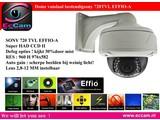 Dome camera met 720 TVL effio-A