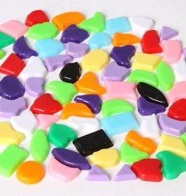 Kunststof mozaiek steentjes 70 gram MIX kleuren