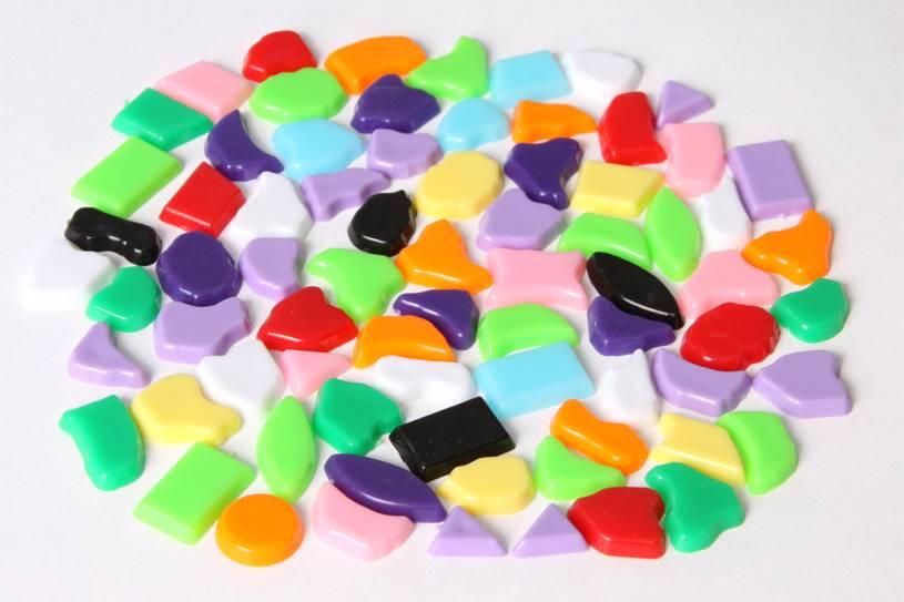 Kunststof mozaieksteentjes 70 gram MIX-kleuren