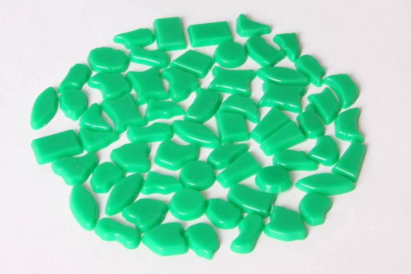 Kunststof mozaieksteentjes ca. 500 gram DONKERGROEN