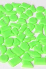 Kunststof mozaieksteentjes ca. 500 gram LICHTGROEN
