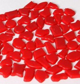 Cristallo Kunststof mozaiek steentjes ca. 500 gram ROOD