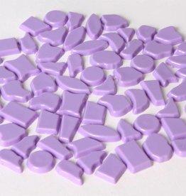 Kunststof mozaiek steentjes ca. 500 gram VIOLET