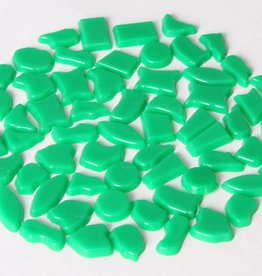 Cristallo Kunststof mozaiek steentjes ca. 70 gram DONKERGROEN