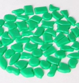 Kunststof mozaiek steentjes ca. 70 gram DONKERGROEN