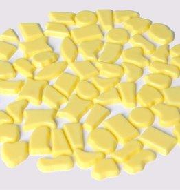 Cristallo Kunststof mozaiek steentjes ca. 70 gram GEEL