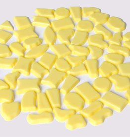 Kunststof mozaiek steentjes ca. 70 gram GEEL