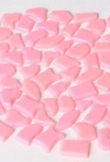 Kunststof mozaieksteentjes ca. 70 gram ROZE