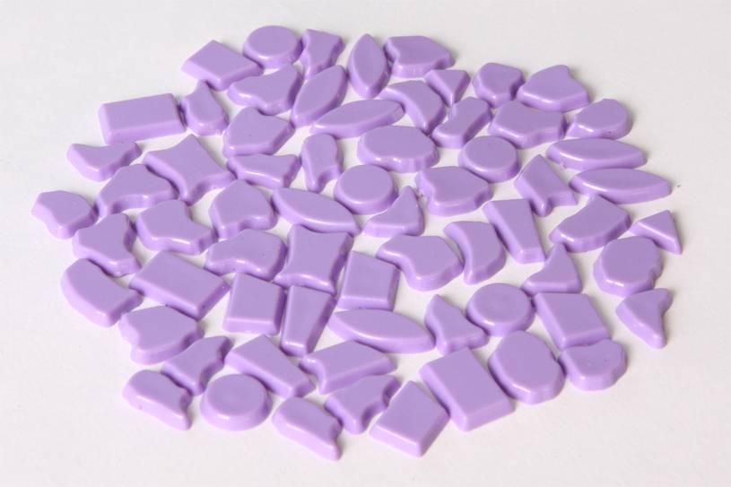 Kunststof mozaieksteentjes ca. 70 gram VIOLET
