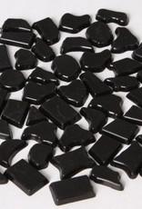 Kunststof mozaieksteentjes ca. 70 gram ZWART