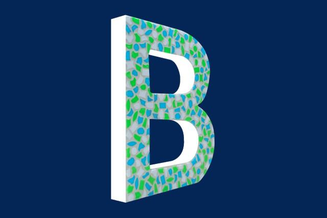 Cristallo Mozaiekpakket Letter B Fris