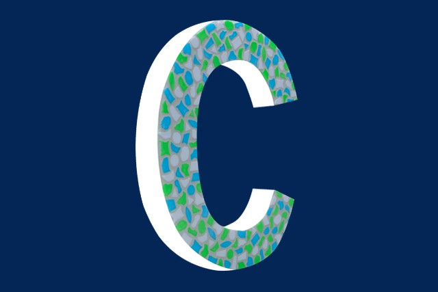 Mozaiekpakket Letter C Fris