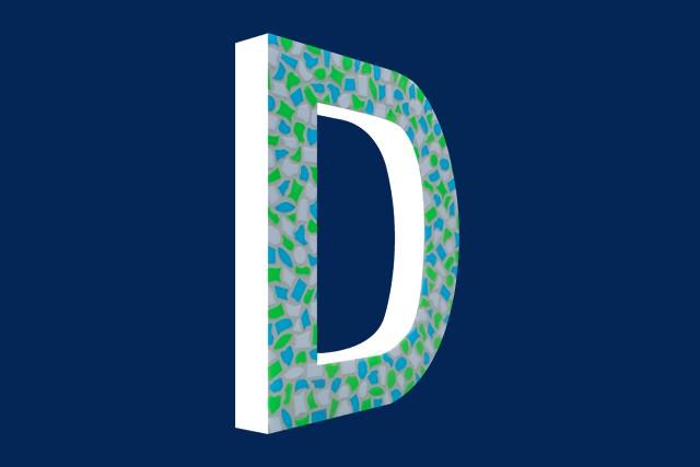 Mozaiekpakket Letter D Fris